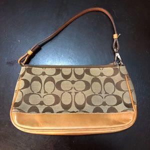 Mini Coach tan purse
